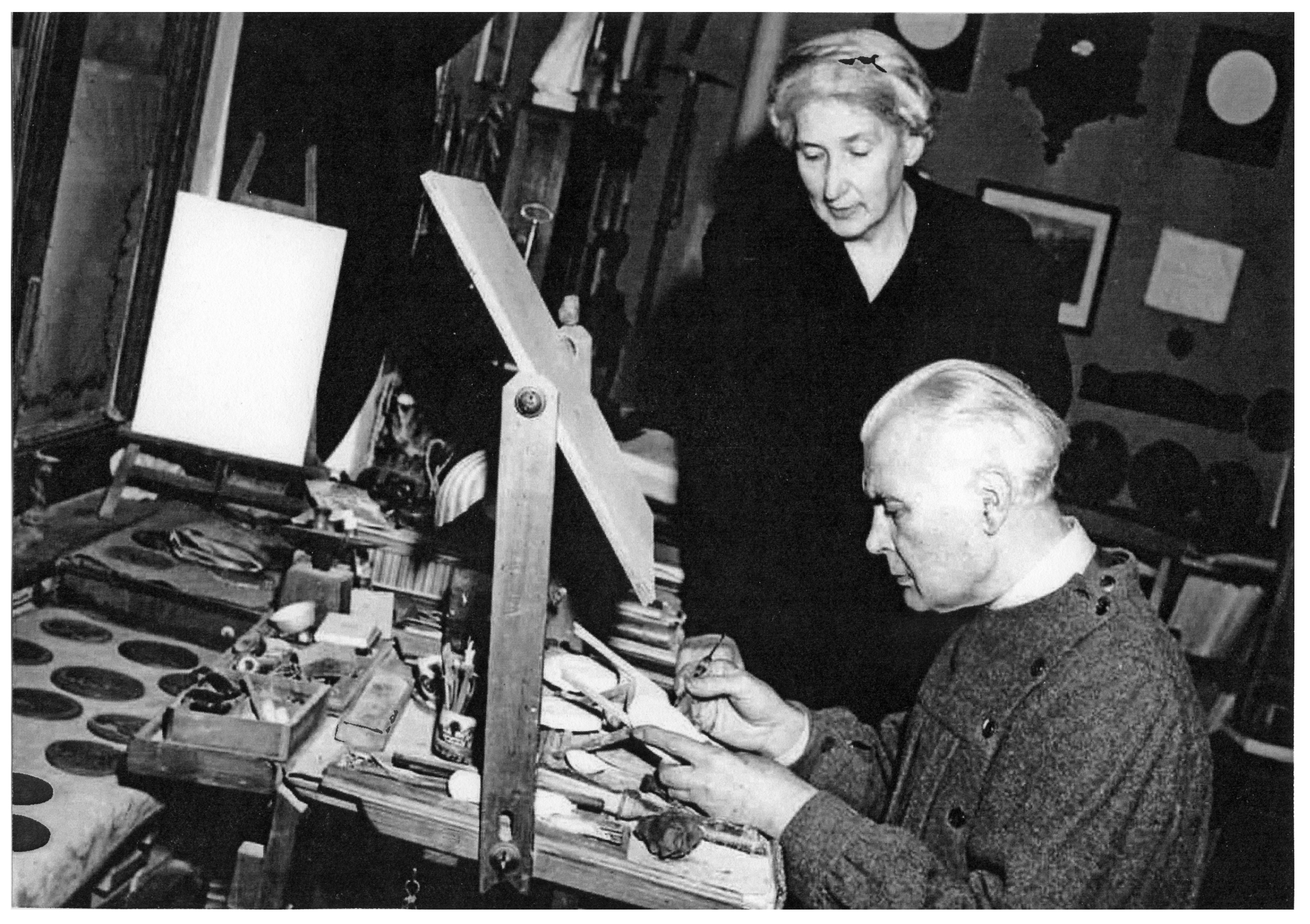 Aurelio e Melania nello studio