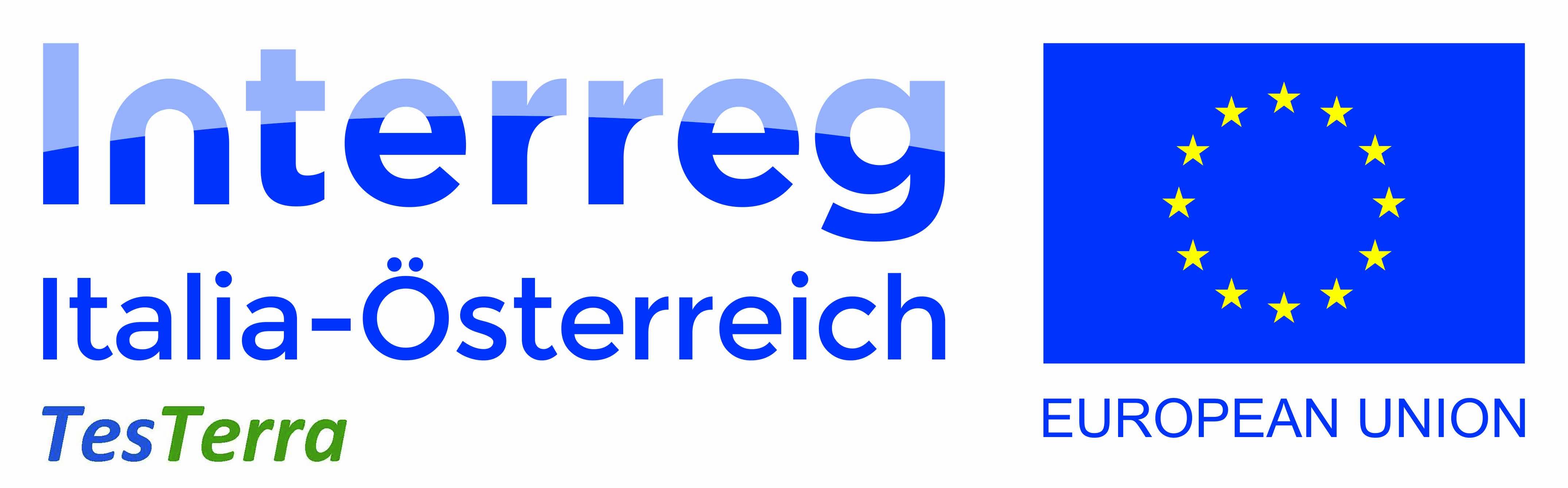 Logo Interreg e Scritta TesTerra