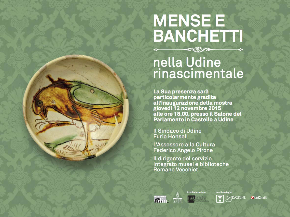"Invitation ""DINING AND BANQUETING IN UDINE DURING THE RENAISSANCE"""