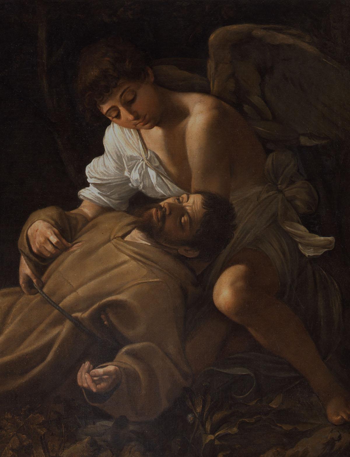 San Francesco che riceve le stigmate - Caravaggio-Schule, 1606-07