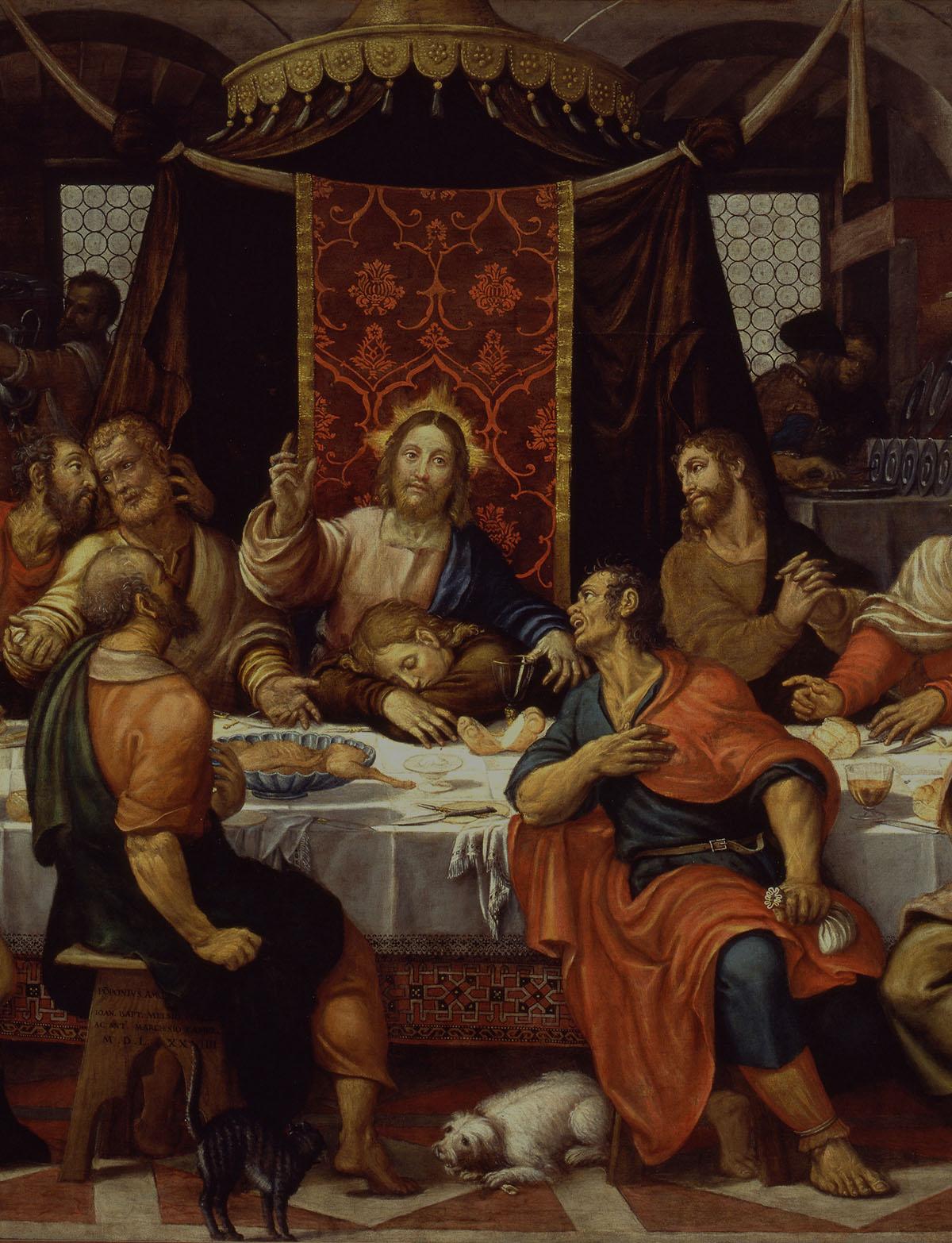 Ultima cena - Pomponio Amalteo, 1574