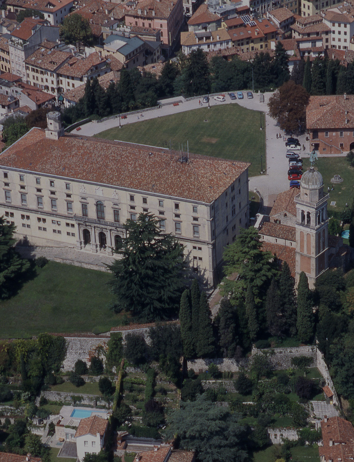 Castle Of Udine Aerial View Of The Castle