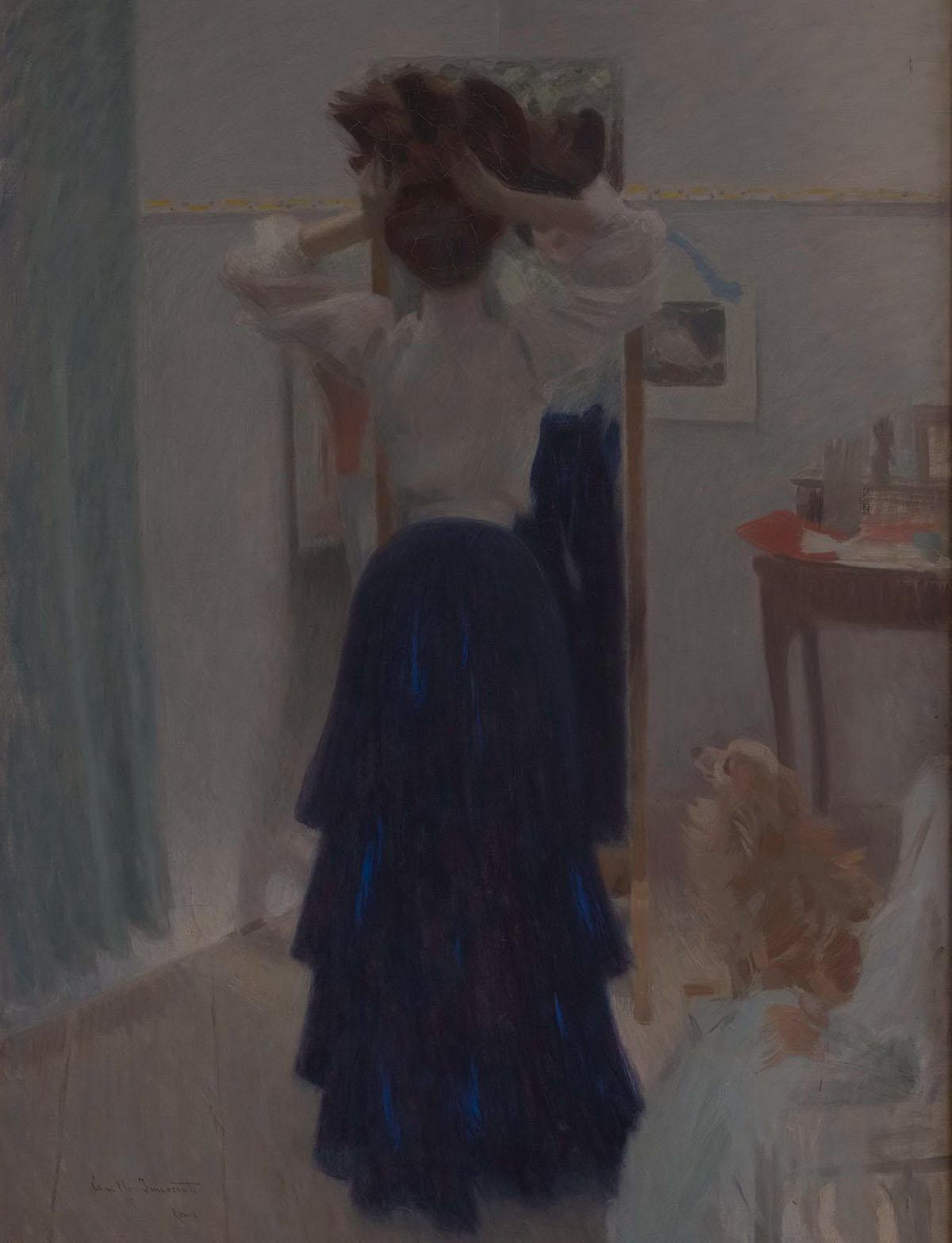 Bianco e azzurro - Camillo Innocenti - 1907 Collezioni permanenti