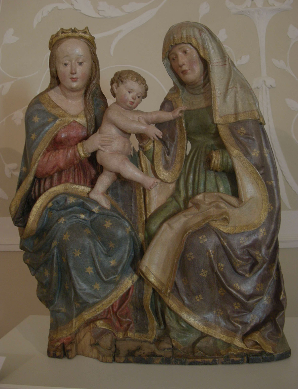 S. Anna, Maria e il Bambino - Anna SelbdrittCarved wood painted and gilded, 72x60 cm