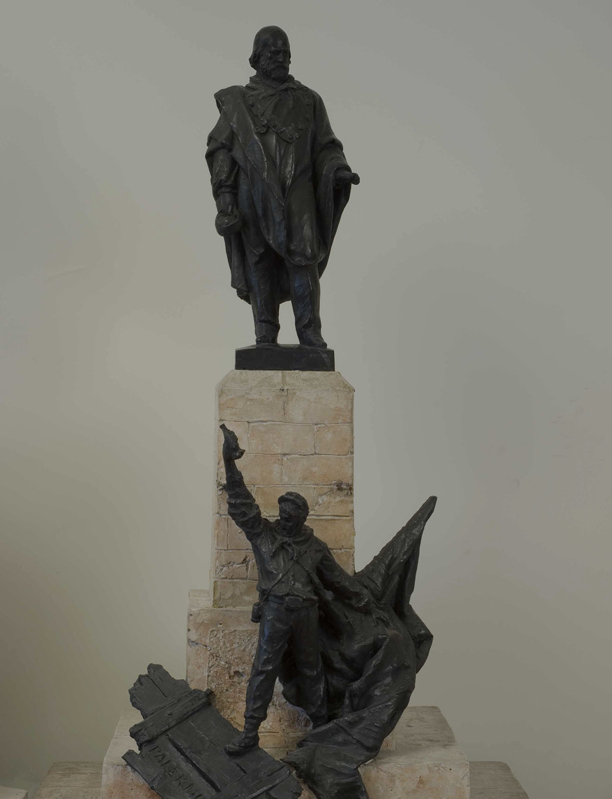 Sketch of the monument to Garibaldi -